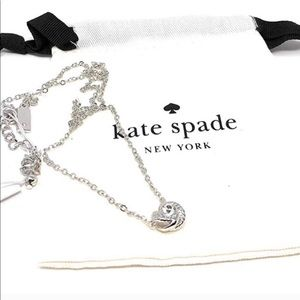 Kate Spade infinity&beyond knot necklace